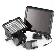 FLOOD LIGHT LED 1.2W BLACK C/W SOLAR