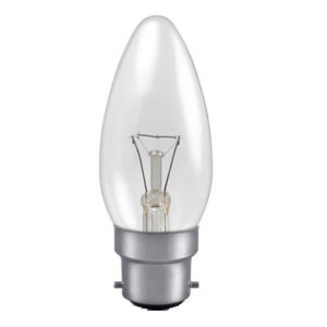 CANDLE LAMP 40W BC- CLEAR (TRAFFIC)
