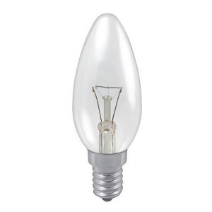 CANDLE LAMP 40W SES CLEAR (TRAFFIC)