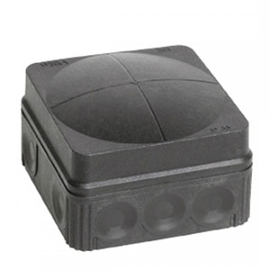 COMBI BOX 76X76X51mm PVC BLACK