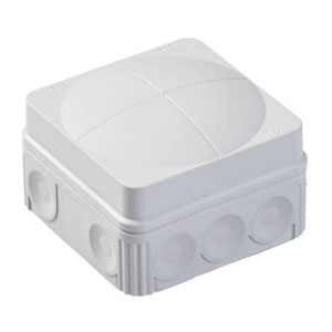 COMBI BOX 76X76X51mm PVC WHITE