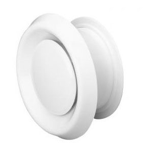 AIR VALVE 100mm CIRCULAR WHITE
