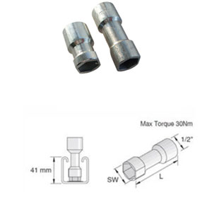 M10 UNISTRUT SOCKET 41X21MM