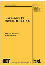 WIRING REGS BOOK 17TH AMEND 3 YELLOW
