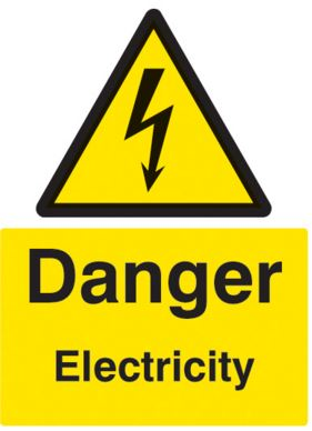DANGER ELECTRICITY SIGN 150X100