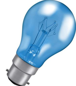 25W BLUE COLOUR GLS LAMP BC