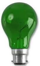25W GREEN COLOUR GLS LAMP BC