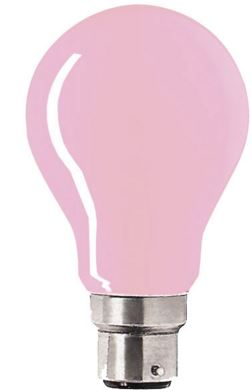 25W PINK COLOUR GLS LAMP BC