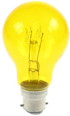 25W YELLOW COLOUR GLS LAMP BC