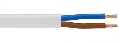CABLE - LOW VOLTAGE 2CORE 2mm WHITE