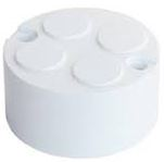 LOOP-IN BOX 4X20mm KO PVC WHI