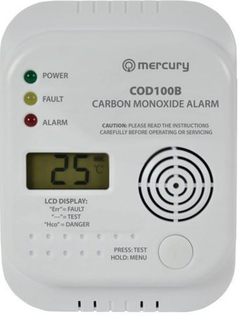 CARBON MONOXIDE DETECTOR - BATTERY