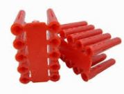 WALL PLUGS RED 5.5mm X30mm DEPTH
