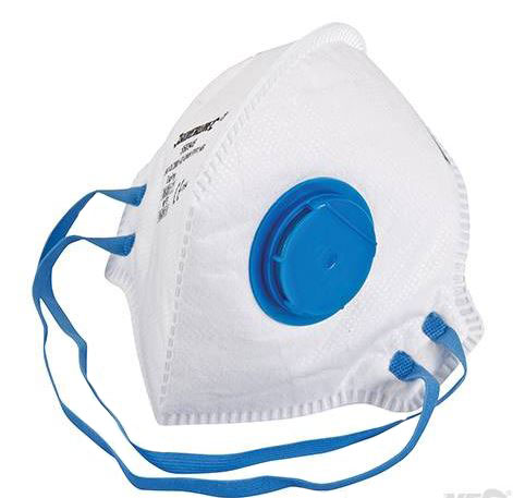 FOLD FLAT VALVED  DUST MASK