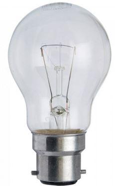 60W 240V CLEAR BC GLS LAMP