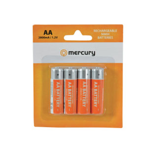 PK4 RECHARGE AA BATTS 2800mah