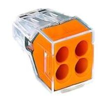 4WAY PUSH WIRE CONNECTOR ORANGE