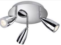 STORM LED 3 LIGHT FITTING CHROME IP44