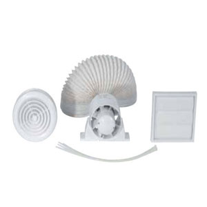 100mm INLINE FAN LIGHT C/W TIMER /CHR/WH
