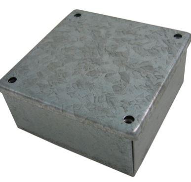 ADAPTABLE BOX 300x300x75mm METAL GALV