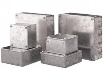 ADAPTABLE BOX 225x225x100mm METAL GALV
