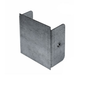 TRUNKING END CAP 6X6 STEEL GALV