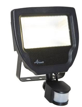 30W PIR FLOOD LIGHT COOL WHITE
