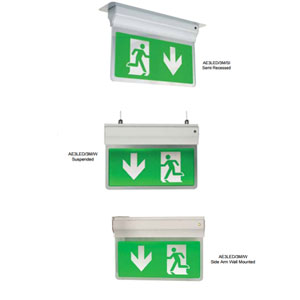 2.5W LED EXIT SIGN 3-IN-1 SELF TEST