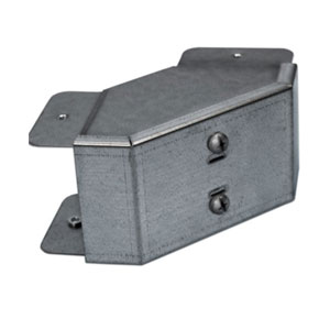 TRUNKING BEND EXTERNAL LID 2X2 GALV STEEL