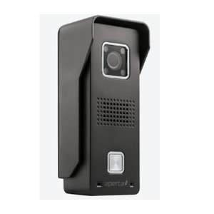 DOOR CHIME WITH RECORD (MAINS) BLACK