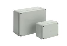 PLASTIC BOX 103x103X62mm GREY AS15