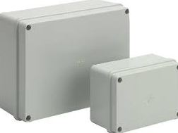 PLASTIC BOX 390x310x128mm GREY