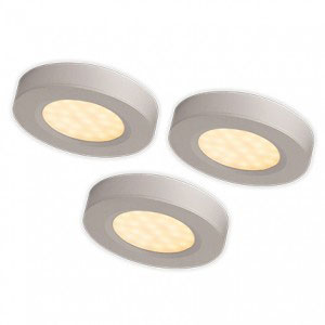 UNDER CUPBOARD 3LIGHT KIT SILVER INCL DRIVER