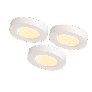 UNDER CUPBOARD 3LIGHT KIT WHITE INC 12vDRIVER