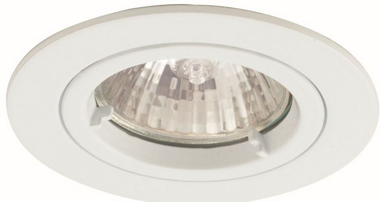 FIXED GU10 DOWNLIGHT MATT WHI