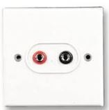 SPEAKER OUTLET PLATE WHI