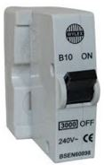MCB SINGLE POLE 10AMP WITH BASE