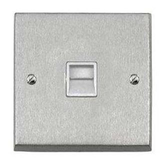 Socket Telephone Master 1 Gang Plain Plate