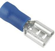 FEMALE SPADE 6.3mm BLUE