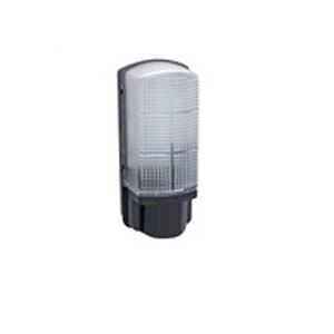 PIR BULKHEAD BLACK LED 7WATT 110DEG 8M IP44