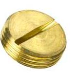 STOP PLUG SLOTTED 25mm BRASS