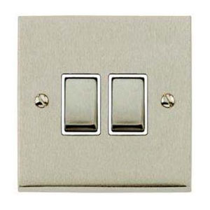 SWITCH 2GANG 2WAY SATIN NICKEL