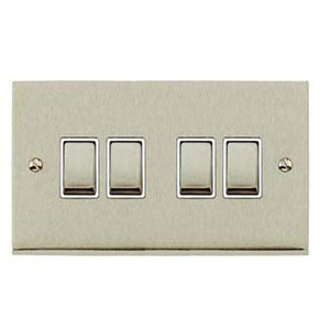 SWITCH 4GANG 2WAY SATIN NICKEL