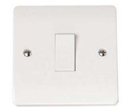LIGHT SWITCH 1GANG 1WAY WHITE