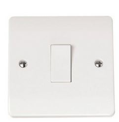 LIGHT SWITCH 1GANG 2WAY WHITE