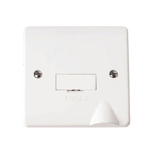 SPUR UNSWITCHED 13A C/W FLEX OUTLET