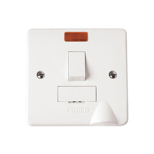SPUR SWITCHED 13A C/W NEON   FLEX OUTLET
