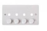 4GANG DIMMER PLATE ONLY C/W KNOBS