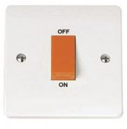 COOKER SWITCH 45A 1GANG SMALL