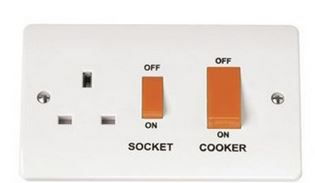 COOKER CONTROL PANEL C/W SOCKET 45A